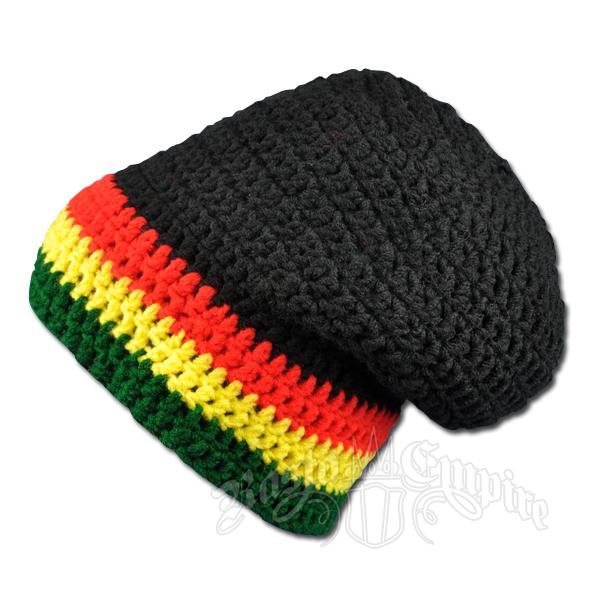 Crochet Pattern Rasta Hat : Handmade Rasta Crochet Slouch Beanie Hat @ RastaEmpire.com
