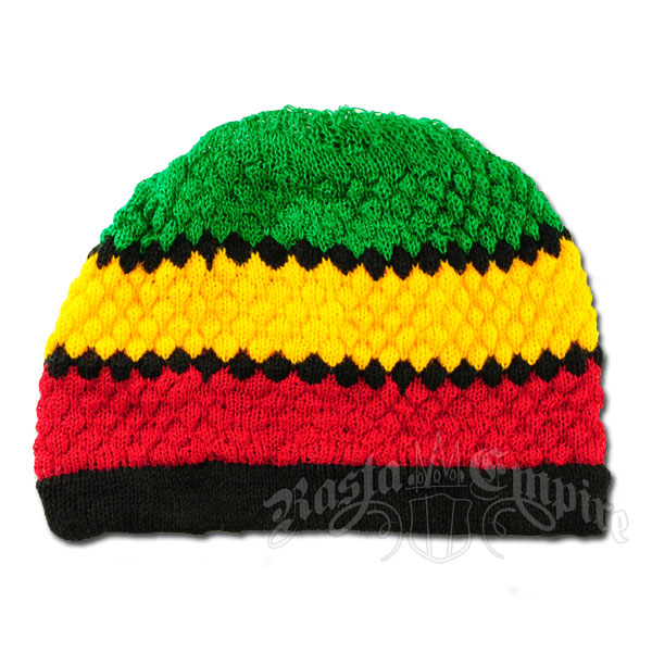 Knitting Pattern For Rasta Hat : Rasta and Reggae Striped Knit Beanie @ RastaEmpire.com