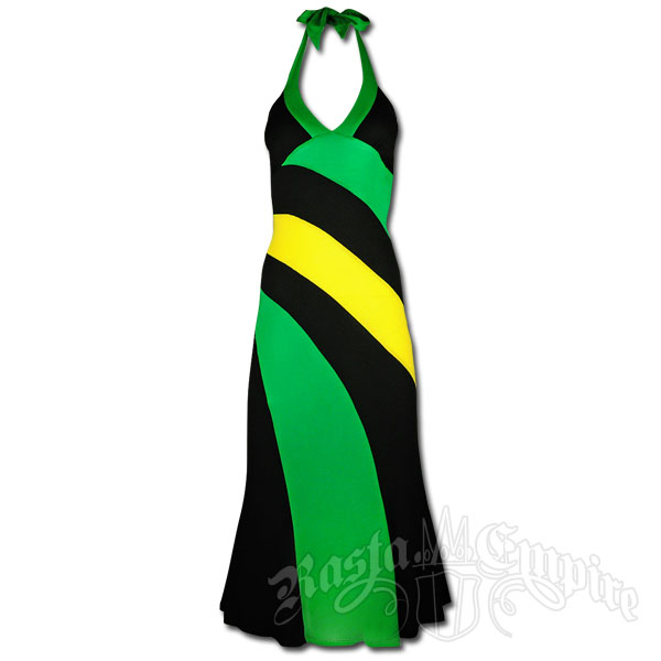 Jamaican Long Halter Dress @ RastaEmpire.com