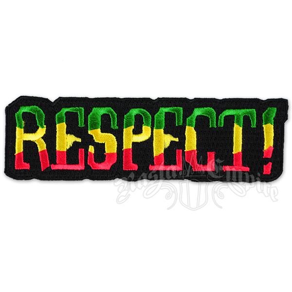 Respect Patch Rasta Reggae Jamaica Bob Marley