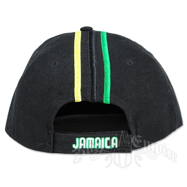 Jamaica Map Flag and Text Mens//Womens Contrast Color Baseball Cap Peak Cap Hat