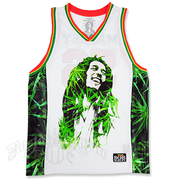 Bob Marley Leaves Basketball Jersey Men S