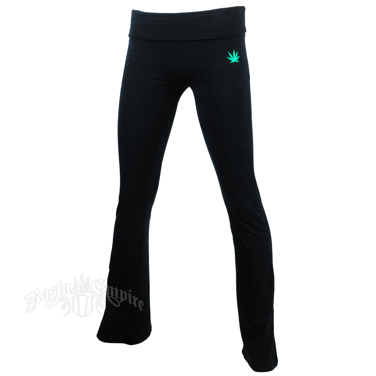 Bob Marley One Love Black Yoga Pants - Women's at RastaEmpire.com