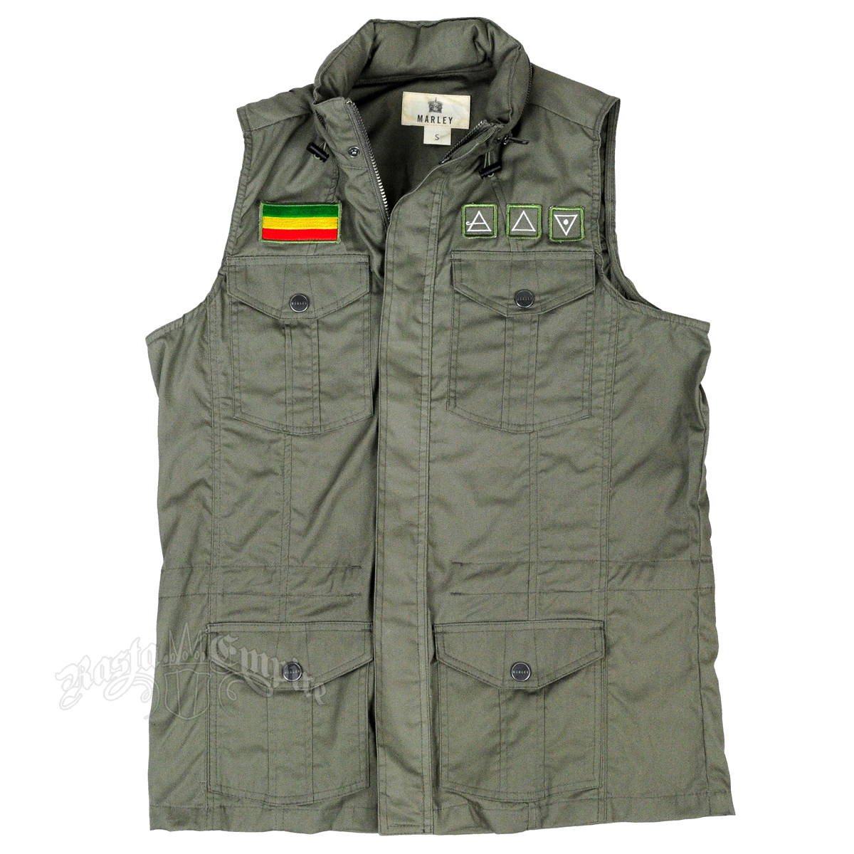 Military Tanks For Sale >> Marley Dusty Olive Military Vest - Men's at RastaEmpire.com