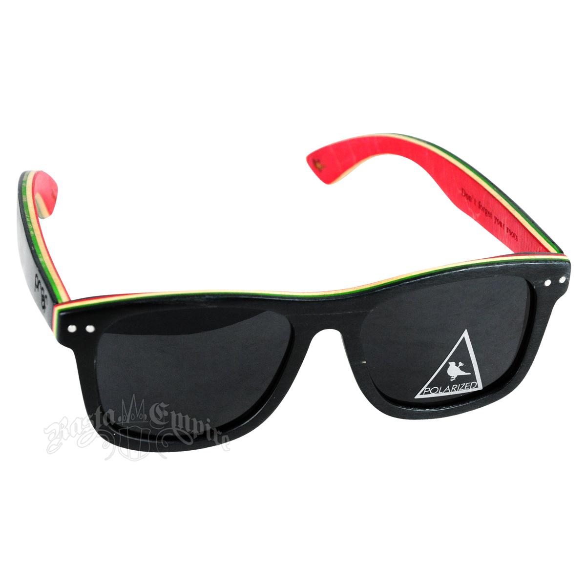 b1abf80e2a1c6 Rasta Rayban Style Sunglasses - Black. Rasta Polarized Ontario Skate  Sunglasses