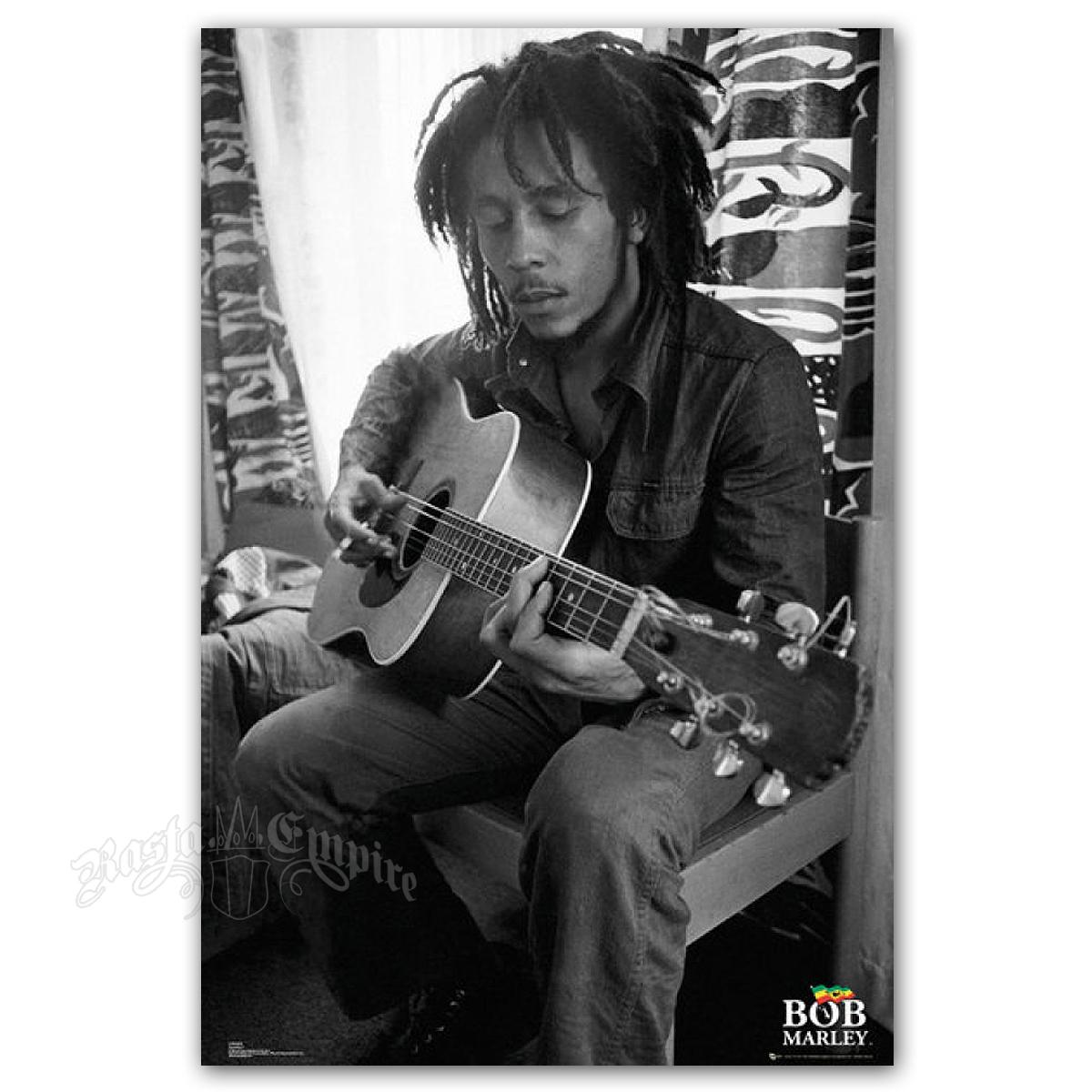 bob marley guitar poster 24 x 36. Black Bedroom Furniture Sets. Home Design Ideas
