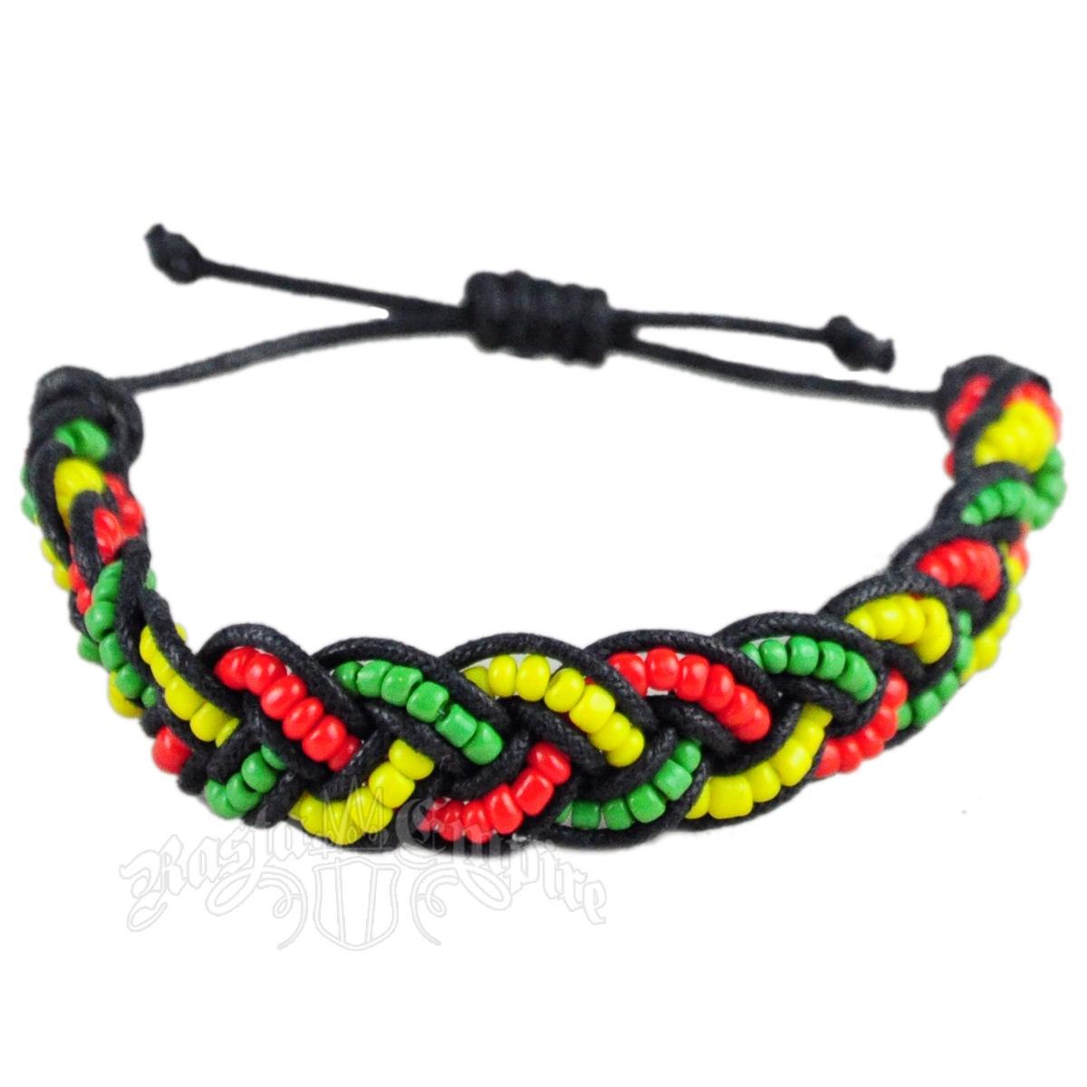 rasta braided coco bracelet rastaempire