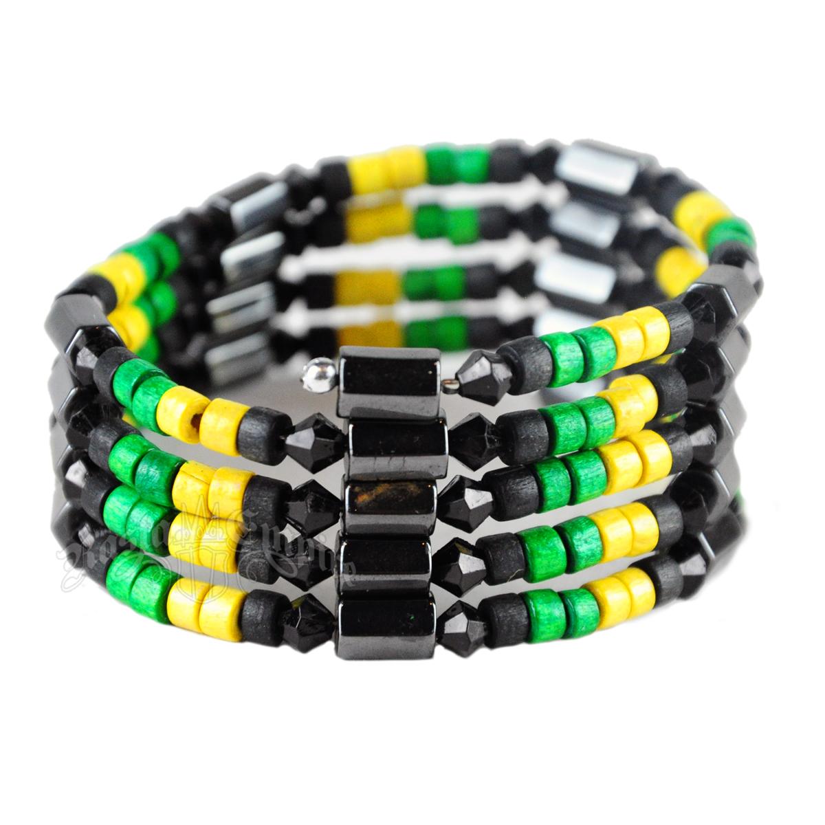 Jamaican Hemae Magnetic Wrap Bracelet