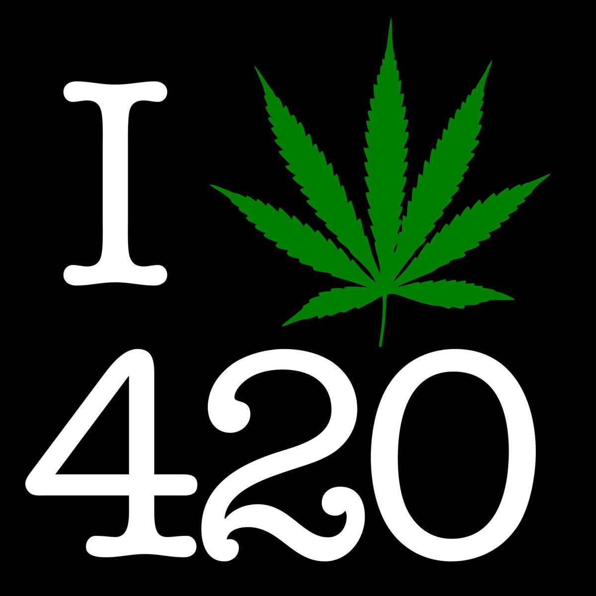 I Love 420 Pot Leaf Black T Shirt Men S Rastaempire Com