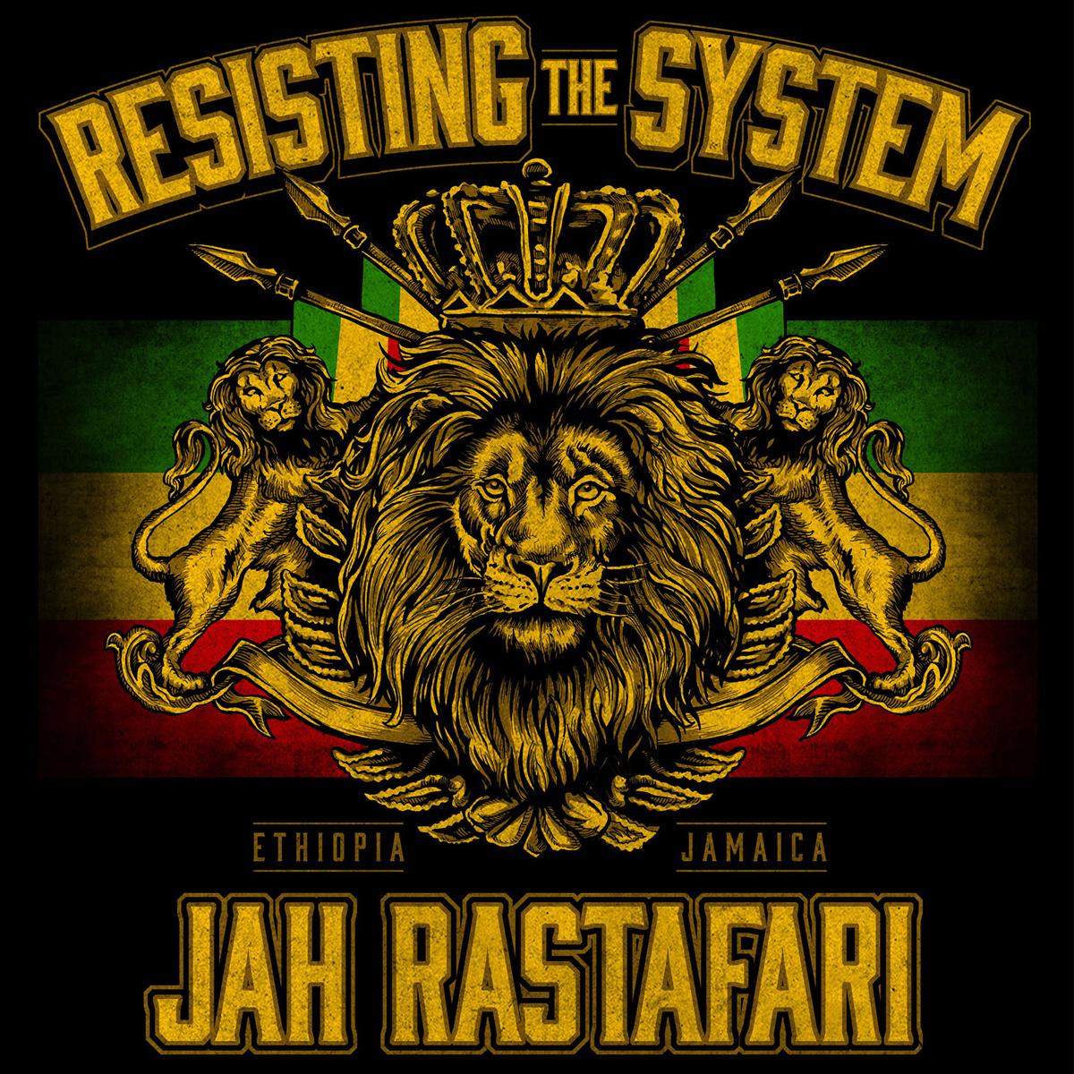 Rastafarian 2: RastaEmpire Resisting The System Black T-Shirt