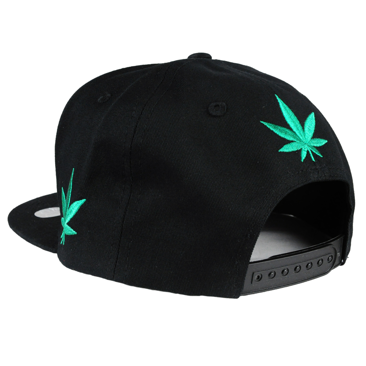 420 Pot Leaf Hat Black