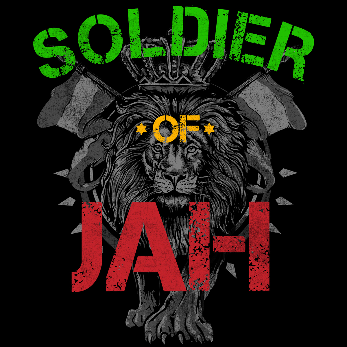 Rastafarian 2: RastaEmpire Soldier Of Jah Black T-Shirt