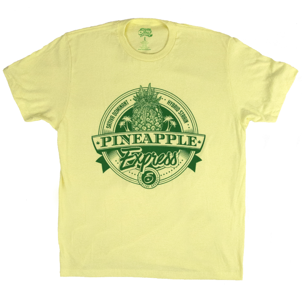 bc620eaff6d6 Seven Leaf Pineapple Express Strain Yellow T-Shirt - Men's ...