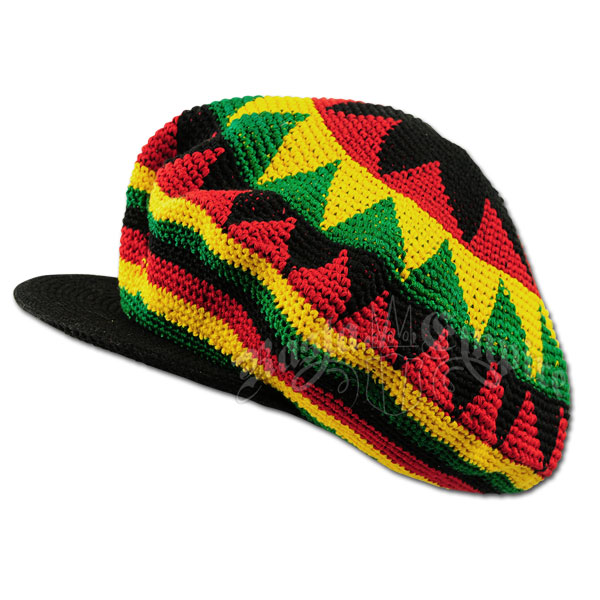 Knitting Patterns For Rasta Hats : Oversized Rasta Dreadie Crochet Applejack Hat @ RastaEmpire.com
